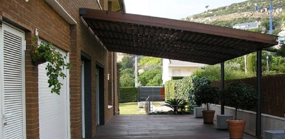 cenador de madera pergola tejados Bilbao