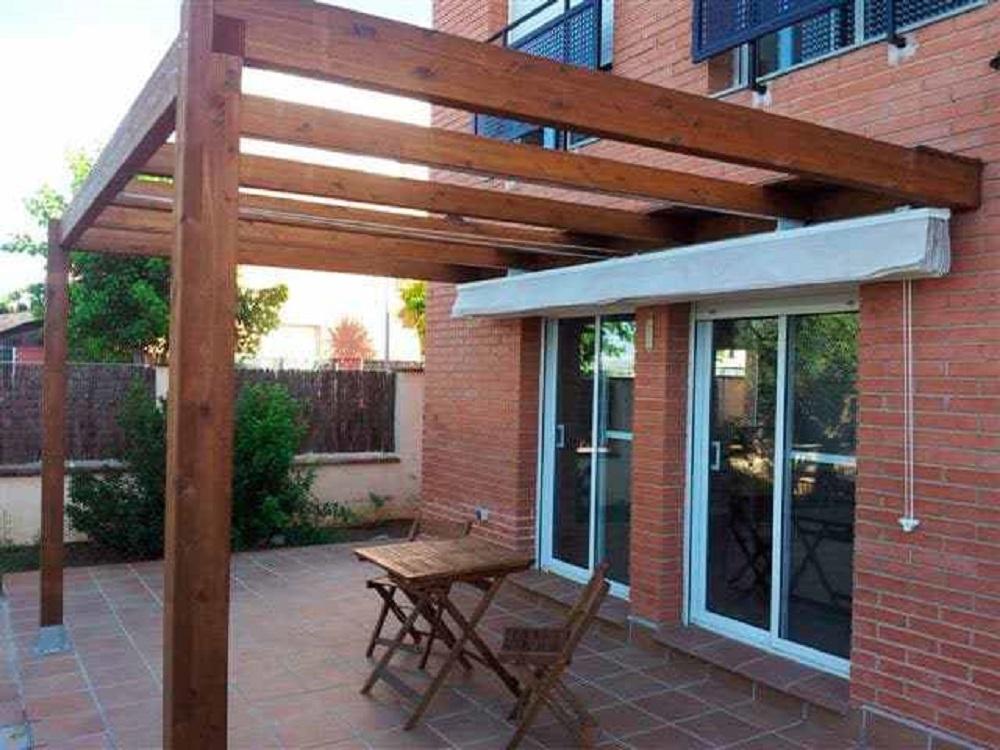 pergola de madera cenadores estructuras de madera en tejados vitoria