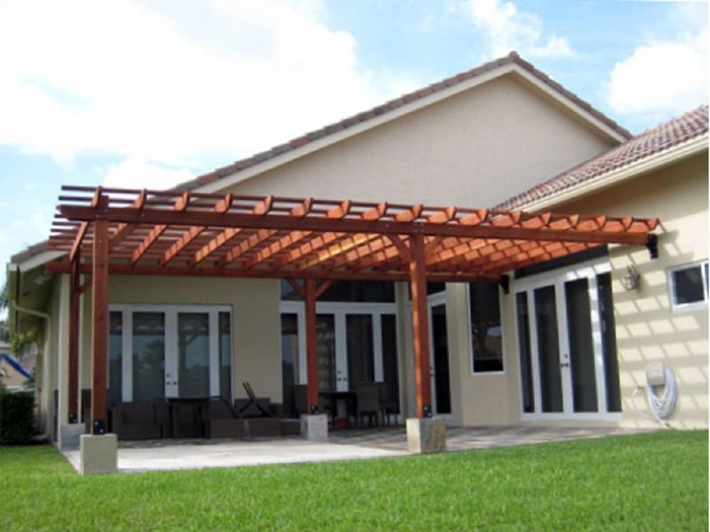 pergola porche de madera tejados bilbao tejadillo de madera