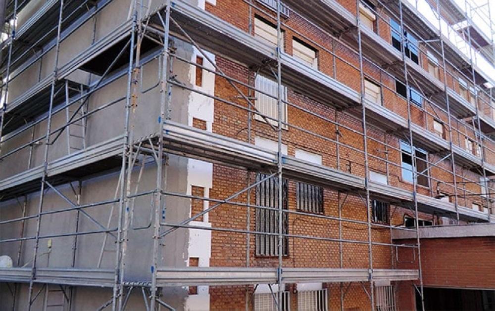 Preparando fachada para su rehabilitación en Bilbao
